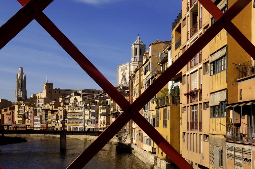 Girona des del pont de les peixeteries velles